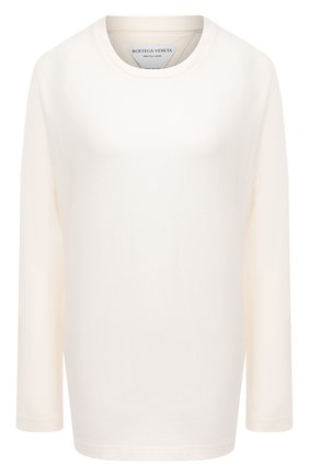 Женская хлопковый лонгслив BOTTEGA VENETA белого цвета, арт. 636866/VF1U0 | Фото 1