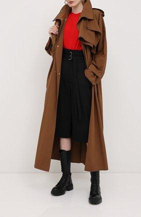 Женский пуловер BOTTEGA VENETA красного цвета, арт. 633132/VKWI0 | Фото 2