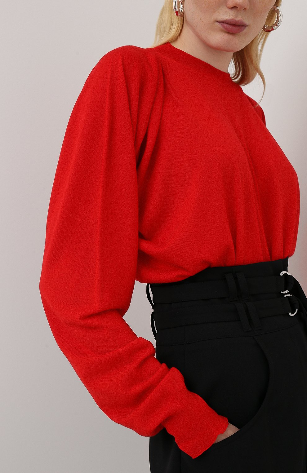 Женский пуловер BOTTEGA VENETA красного цвета, арт. 633132/VKWI0 | Фото 3
