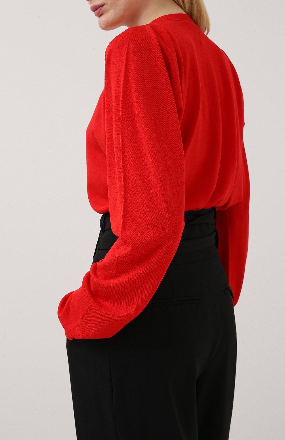 Женский пуловер BOTTEGA VENETA красного цвета, арт. 633132/VKWI0 | Фото 4
