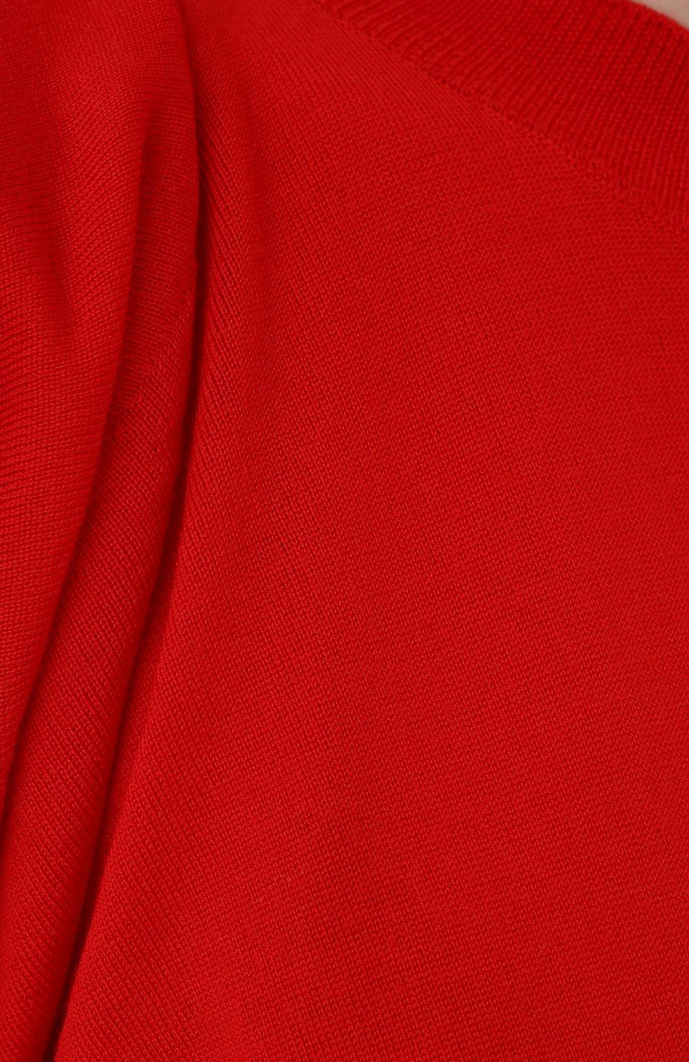 Женский пуловер BOTTEGA VENETA красного цвета, арт. 633132/VKWI0 | Фото 5