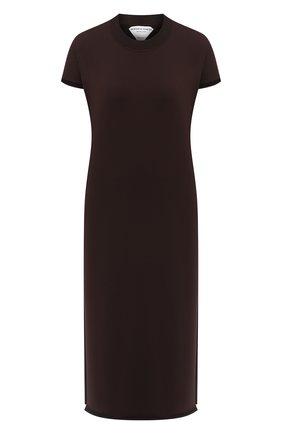 Женское платье BOTTEGA VENETA темно-коричневого цвета, арт. 631757/VKWC0 | Фото 1