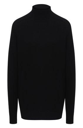 Женский шерстяной пуловер BOTTEGA VENETA черного цвета, арт. 626969/VKXJ0   Фото 1