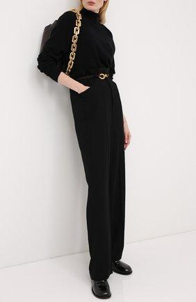 Женский шерстяной пуловер BOTTEGA VENETA черного цвета, арт. 626969/VKXJ0   Фото 2