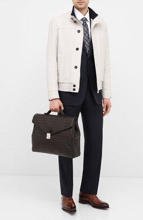 Мужской кожаный портфель BOTTEGA VENETA темно-коричневого цвета, арт. 630239/VCRL2 | Фото 2