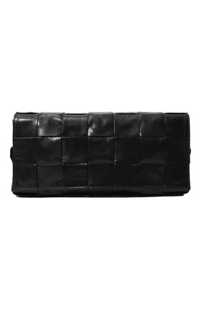 Мужская кожаная сумка stretch cassette BOTTEGA VENETA черного цвета, арт. 629068/VCQ71 | Фото 1