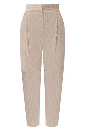 Женские брюки BRUNELLO CUCINELLI бежевого цвета, арт. MP180P7349   Фото 1