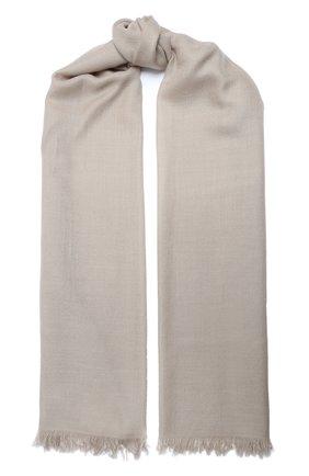 Мужские шарф из смеси кашемира и шелка BRUNELLO CUCINELLI кремвого цвета, арт. MSC924059P   Фото 1