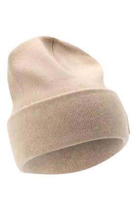 Женская кашемировая шапка BRUNELLO CUCINELLI бежевого цвета, арт. M12171699P | Фото 1
