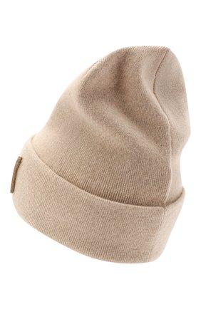 Женская кашемировая шапка BRUNELLO CUCINELLI бежевого цвета, арт. M12171699P | Фото 2