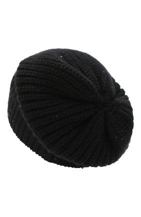 Женская кашемировая шапка BRUNELLO CUCINELLI черного цвета, арт. M32373999P | Фото 2