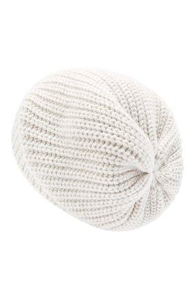 Женская кашемировая шапка BRUNELLO CUCINELLI кремвого цвета, арт. M32373999P | Фото 2