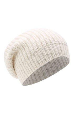 Женская кашемировая шапка BRUNELLO CUCINELLI белого цвета, арт. M32373999P | Фото 1