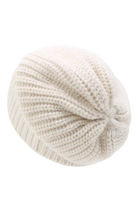 Женская кашемировая шапка BRUNELLO CUCINELLI белого цвета, арт. M32373999P | Фото 2