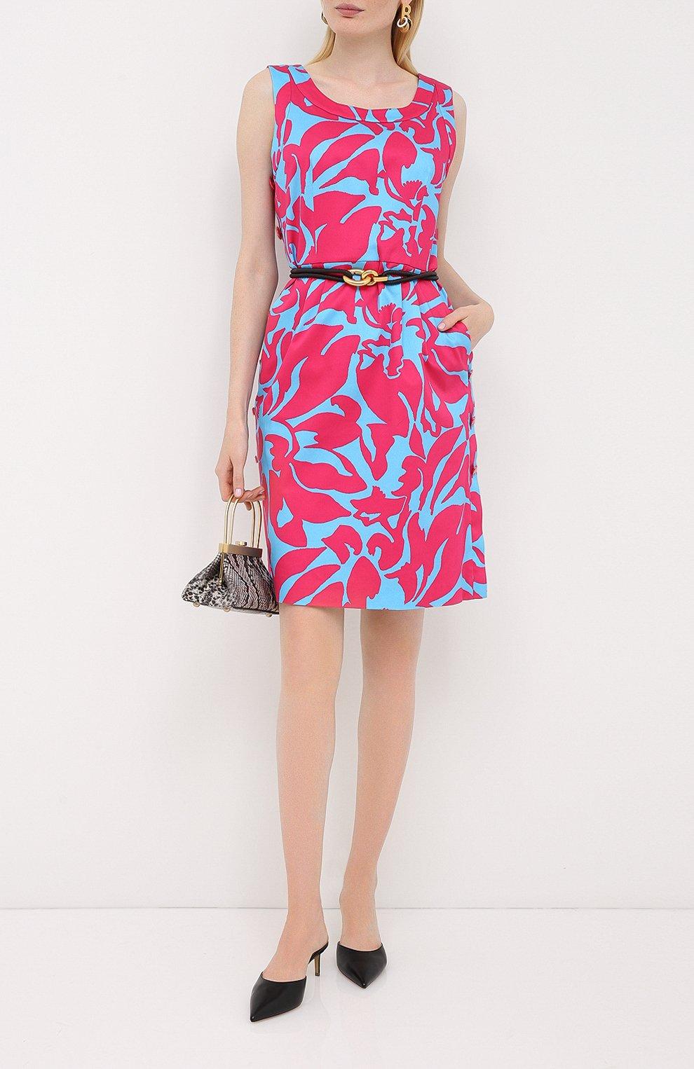 Женское хлопковое платье ESCADA разноцветного цвета, арт. 5033917   Фото 2