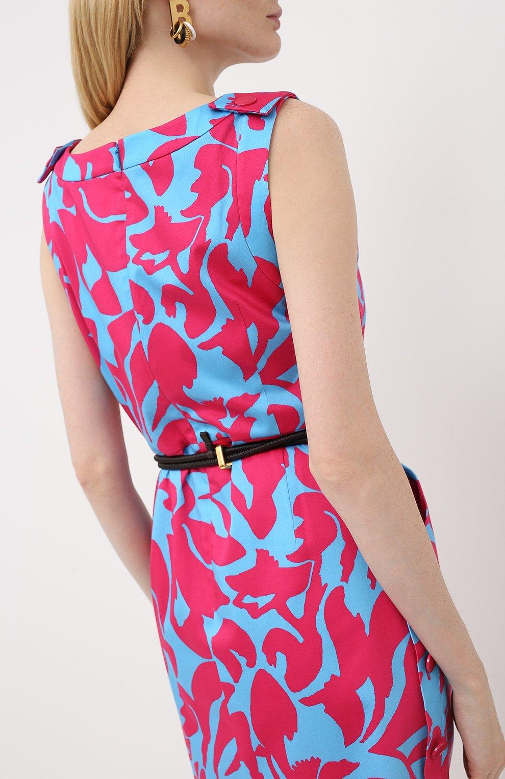 Женское хлопковое платье ESCADA разноцветного цвета, арт. 5033917   Фото 4
