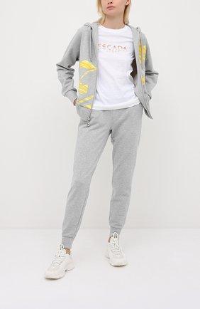 Женская хлопковая футболка ESCADA SPORT белого цвета, арт. 5033831 | Фото 2
