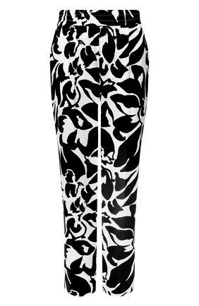 Женские шелковые брюки ESCADA черно-белого цвета, арт. 5033830 | Фото 1