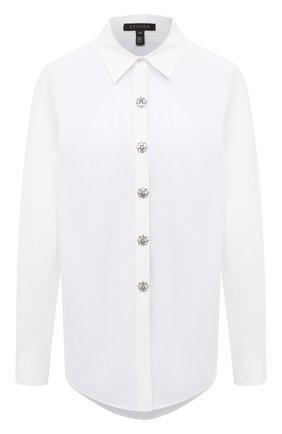 Женская хлопковая рубашка ESCADA белого цвета, арт. 5033805 | Фото 1
