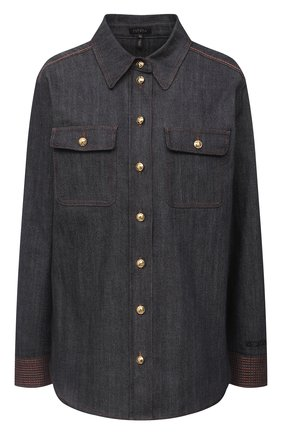 Женская джинсовая рубашка ESCADA серого цвета, арт. 5033717 | Фото 1
