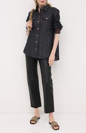 Женская джинсовая рубашка ESCADA серого цвета, арт. 5033717 | Фото 2