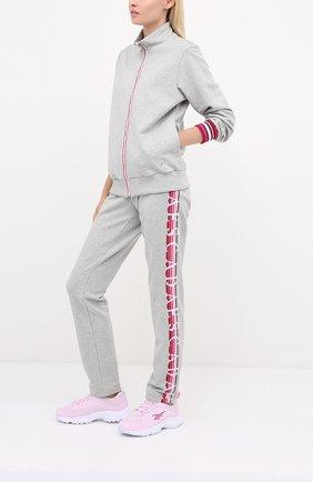 Женские хлопковые брюки ESCADA SPORT серого цвета, арт. 5033688 | Фото 2
