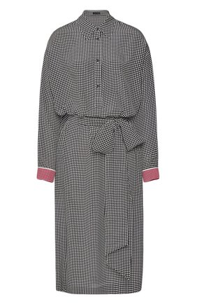 Женское шелковое платье ESCADA черно-белого цвета, арт. 5033541 | Фото 1