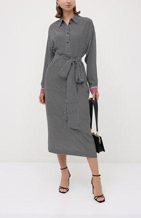 Женское шелковое платье ESCADA черно-белого цвета, арт. 5033541 | Фото 2