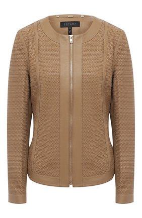 Женская кожаная куртка ESCADA бежевого цвета, арт. 5033531 | Фото 1