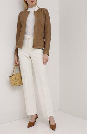 Женская кожаная куртка ESCADA бежевого цвета, арт. 5033531 | Фото 2