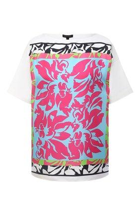 Женская футболка из шелка и хлопка ESCADA белого цвета, арт. 5033414 | Фото 1