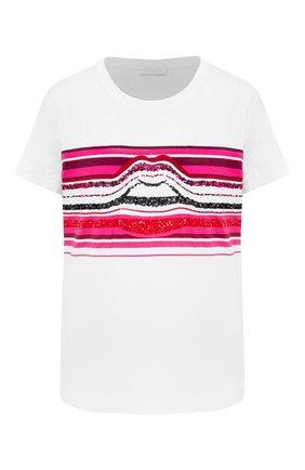 Женская футболка ESCADA SPORT черно-белого цвета, арт. 5033330 | Фото 1