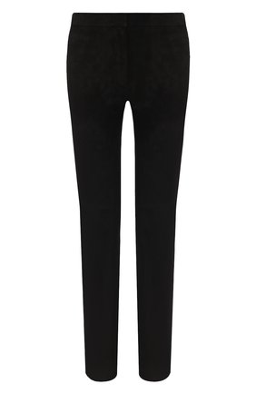 Женские замшевые брюки ESCADA черного цвета, арт. 5024576   Фото 1