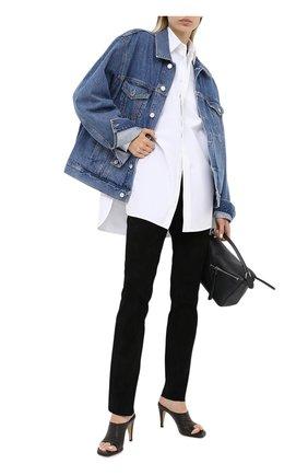 Женские замшевые брюки ESCADA черного цвета, арт. 5024576   Фото 2