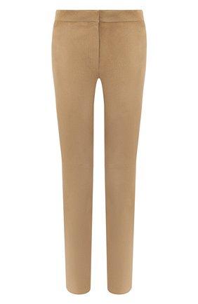 Женские замшевые брюки ESCADA бежевого цвета, арт. 5024576 | Фото 1