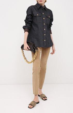 Женские замшевые брюки ESCADA бежевого цвета, арт. 5024576 | Фото 2