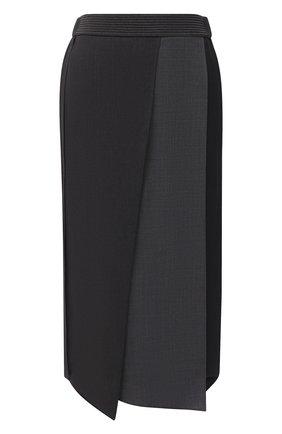 Женская шерстяная юбка BRUNELLO CUCINELLI серого цвета, арт. M0W07G2986   Фото 1