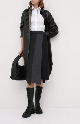 Женская шерстяная юбка BRUNELLO CUCINELLI серого цвета, арт. M0W07G2986   Фото 2