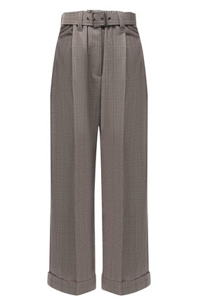 Женские шерстяные брюки BRUNELLO CUCINELLI коричневого цвета, арт. MA191P7378 | Фото 1