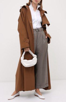Женские шерстяные брюки BRUNELLO CUCINELLI коричневого цвета, арт. MA191P7378   Фото 2