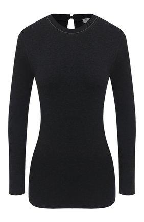Женская хлопковый лонгслив BRUNELLO CUCINELLI темно-серого цвета, арт. M0TC8BJ300 | Фото 1