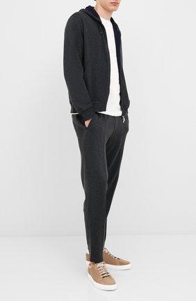Мужская хлопковый лонгслив BRUNELLO CUCINELLI белого цвета, арт. M0T617433 | Фото 2