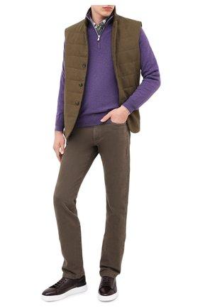 Мужской кашемировый джемпер BRUNELLO CUCINELLI фиолетового цвета, арт. M2200124 | Фото 2