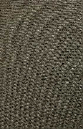 Мужской джемпер из шерсти и кашемира BRUNELLO CUCINELLI хаки цвета, арт. M2400100   Фото 5 (Мужское Кросс-КТ: Джемперы; Материал внешний: Шерсть; Рукава: Длинные; Принт: Без принта; Длина (для топов): Стандартные; Вырез: Круглый)