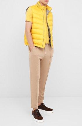 Мужская хлопковая футболка BRUNELLO CUCINELLI желтого цвета, арт. M0T617423 | Фото 2