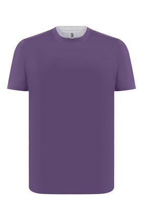 Мужская хлопковая футболка BRUNELLO CUCINELLI фиолетового цвета, арт. M0T617423 | Фото 1