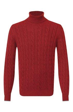 Мужской кашемировый свитер BRUNELLO CUCINELLI красного цвета, арт. M2259503 | Фото 1 (Материал внешний: Шерсть, Кашемир; Рукава: Длинные; Длина (для топов): Стандартные; Принт: Без принта; Мужское Кросс-КТ: Свитер-одежда)