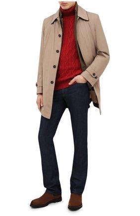 Мужской кашемировый свитер BRUNELLO CUCINELLI красного цвета, арт. M2259503 | Фото 2 (Материал внешний: Шерсть, Кашемир; Рукава: Длинные; Длина (для топов): Стандартные; Принт: Без принта; Мужское Кросс-КТ: Свитер-одежда)