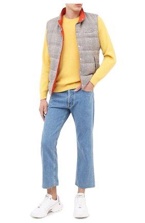 Мужской кашемировый свитер BRUNELLO CUCINELLI желтого цвета, арт. M2229510 | Фото 2