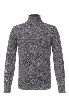 Мужской свитер из шерсти и кашемира BRUNELLO CUCINELLI темно-синего цвета, арт. M26500603 | Фото 1
